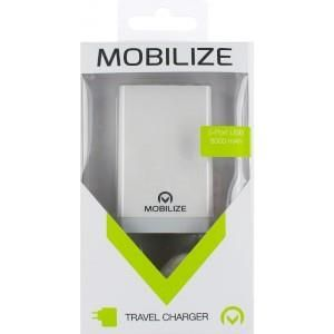 Mobilize Travel Charger 5-Port USB White 8000 mAh
