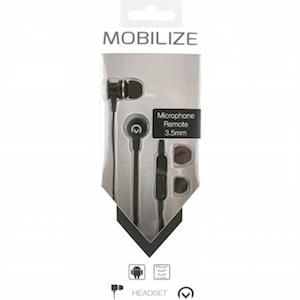 Mobilize 3.5mm In-ear Stereo Headset with Remote Black