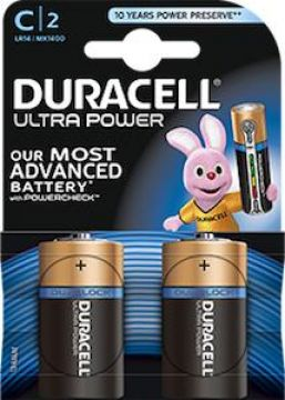 Duracell Batterijen Ultra Power C Duralock LR14 2 Stuks