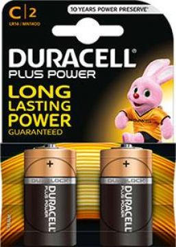 Duracell Batterijen Plus Power C Duralock LR14 2 Stuks