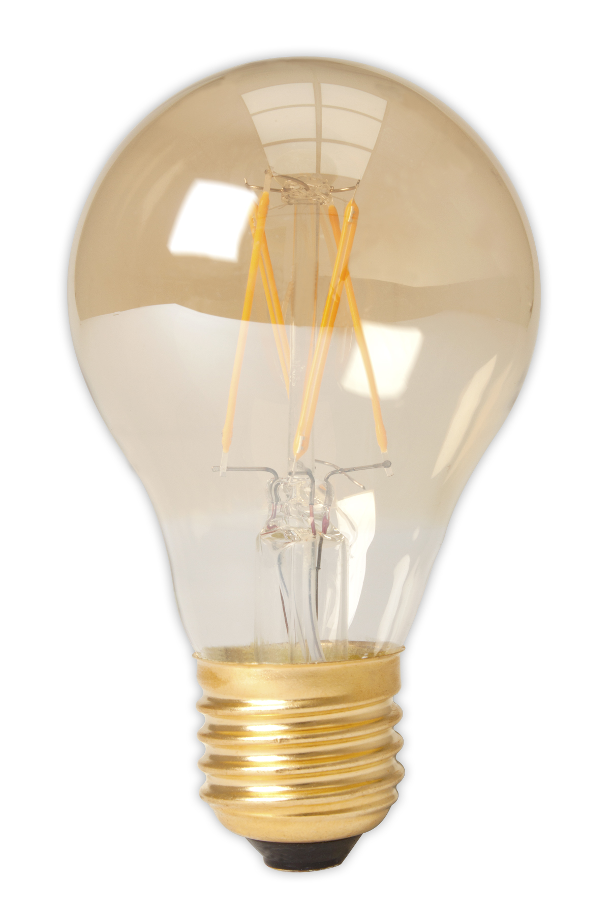Calex standaardlamp LED filament 4W (vervangt 40W) grote fitting E27 goud