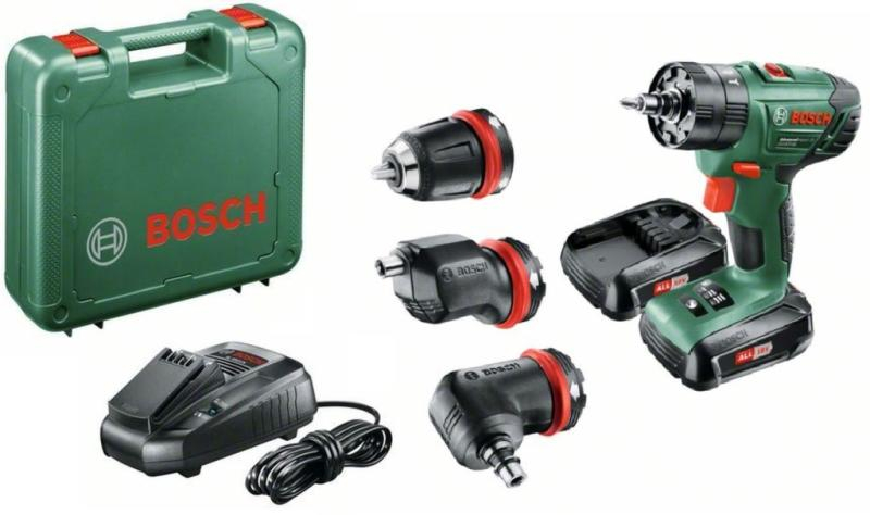 Accu-klopboor-schroefmachine Bosch Home and Garden AdvancedImpact 18 incl. koffer, incl. 2 accus 18
