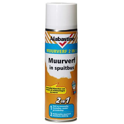 Alabastine muurverf 2-in-1 wit 500 ml