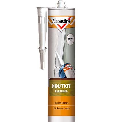 Alabastine flexibel houtkit wit 300 ml