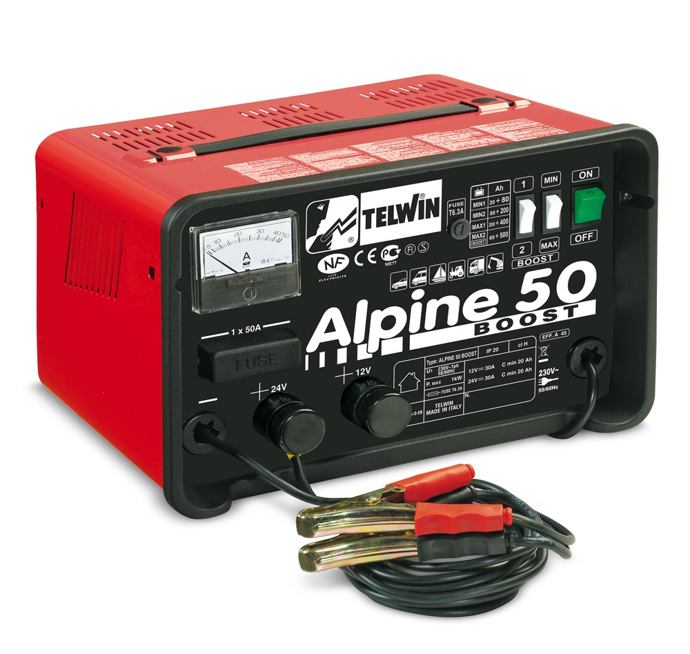 ALPINE 50 BOOST 230V 12-24V Acculader
