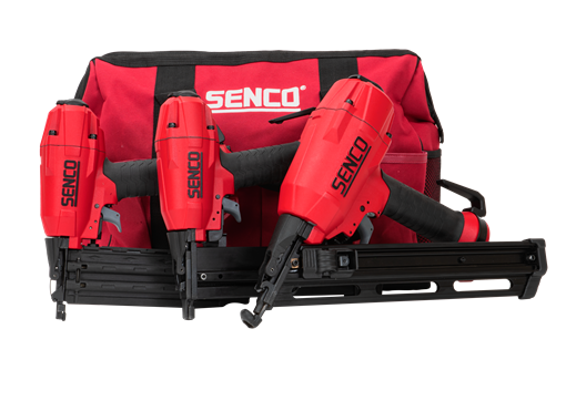 Senco Tackerset 3-in-1 in canvastas | FinishPro18BL SLS18BL FinishPro35BL + Compressor en slang - 10S2001N+EC58LAZ afbeelding 2