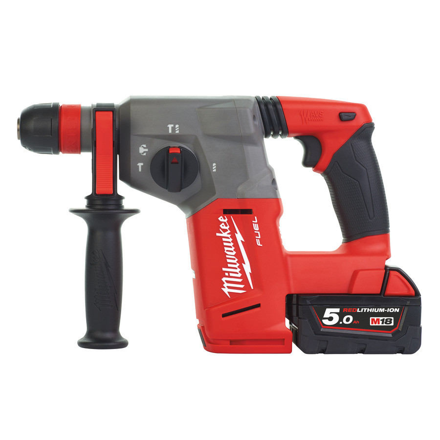 Milwaukee M18 CHXDE-502C M18 FUEL™ SDS-plus Accuboorhamer met afzuiging (5.0Ah) - 4933448185 afbeelding 2