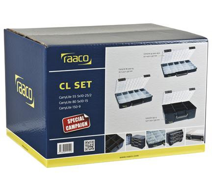 Raaco Carry-Lite set met 3 Carry lites - 141536