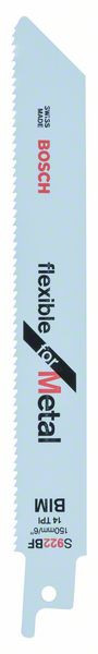 Bosch Accessoires Reciprozaagblad S 922 BF Flexible for Metal 2st