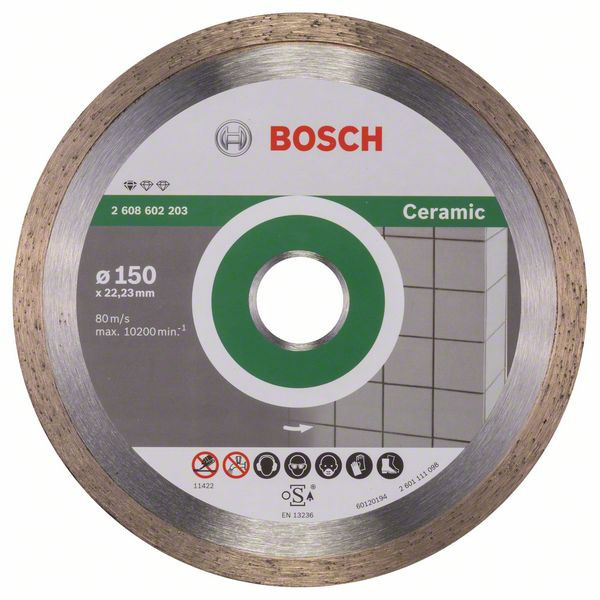 Bosch Accessoires Diamantdoorslijpschijf Standard for Ceramic 150 x 22,23 x 1,6 x 7 mm 1st