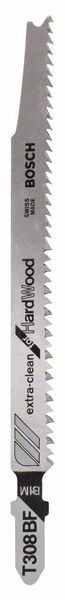Bosch Accessoires Decoupeerzaagblad T 308 BF Extraclean for Hard Wood 3st