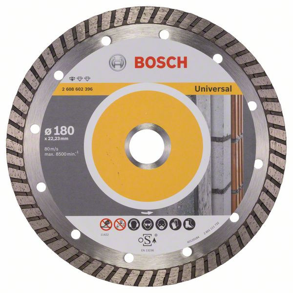 Bosch Accessoires Diamantdoorslijpschijf Standard for Universal Turbo 180 x 22,23 x 2,5 x 10 mm 1st