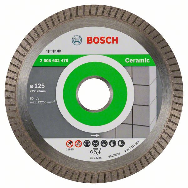 Bosch Accessoires Diamantdoorslijpschijf Best for Ceramic Extraclean Turbo 125 x 22,23 x 1,4 x 7 mm 1st