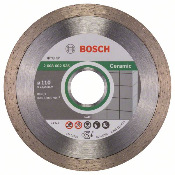 Bosch Accessoires Diamantdoorslijpschijf Standard for Ceramic 110 x 22,23 x 1,6 x 7,5 mm 1st