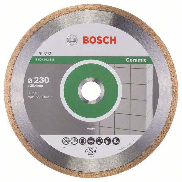 Bosch Accessoires Diamantdoorslijpschijf Standard for Ceramic 230 x 25,40 x 1,6 x 7 mm 1st - 2608602538