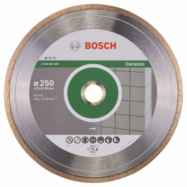 Bosch Accessoires Diamantdoorslijpschijf Standard for Ceramic 250 x 30+25,40 x 1,6 x 7 mm 1st