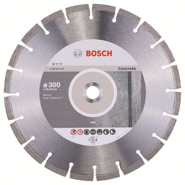 Bosch Accessoires Diamantdoorslijpschijf Standard for Concrete 300 x 22,23 x 3,1 x 10 mm 1st