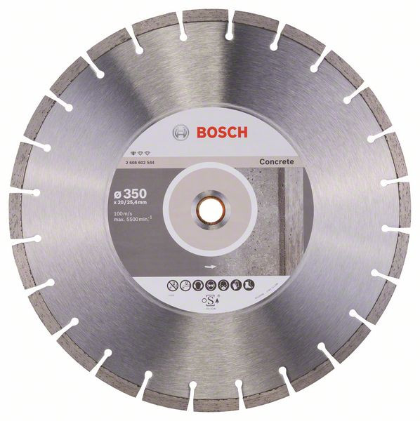 Bosch Accessoires Diamantdoorslijpschijf Standard for Concrete 350 x 20,00+25,40 x 2,8 x 10 mm 1st - 2608602544