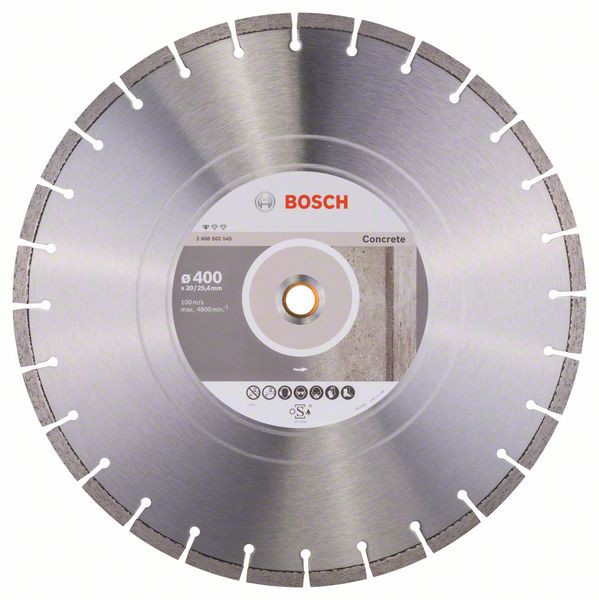 Bosch Accessoires Diamantdoorslijpschijf Standard for Concrete 400 x 20,00+25,40 x 3,2 x 10 mm 1st - 2608602545