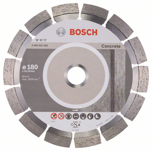 Bosch Accessoires Diamantdoorslijpschijf Expert for Concrete 180 x 22,23 x 2,4 x 12 mm 1st - 2608602558