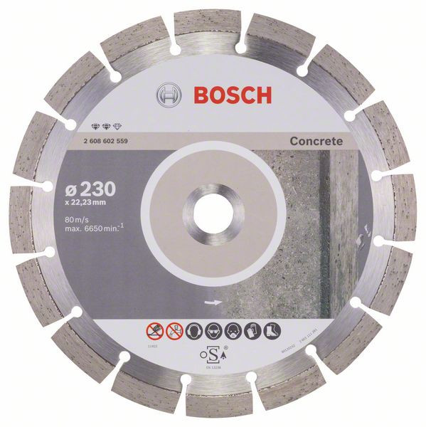 Bosch Accessoires Diamantdoorslijpschijf Expert for Concrete 230 x 22,23 x 2,4 x 12 mm 1st