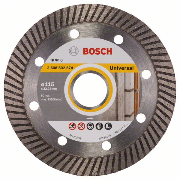Bosch Accessoires Diamantdoorslijpschijf Expert for Universal Turbo 115 x 22,23 x 2 x 12 mm 1st - 2608602574