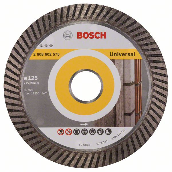 Bosch Accessoires Diamantdoorslijpschijf Expert for Universal Turbo 125 x 22,23 x 2,2 x 12 mm 1st