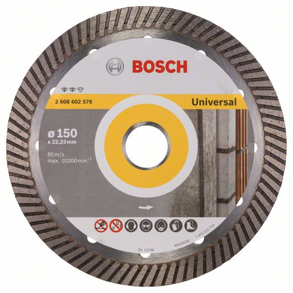 Bosch Accessoires Diamantdoorslijpschijf Expert for Universal Turbo 150 x 22,23 x 2,2 x 12 mm 1st