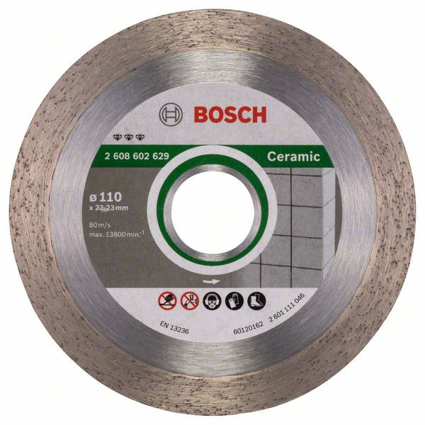 Bosch Accessoires Diamantdoorslijpschijf Best for Ceramic 110 x 22,23 x 1,8 x 10 mm 1st - 2608602629