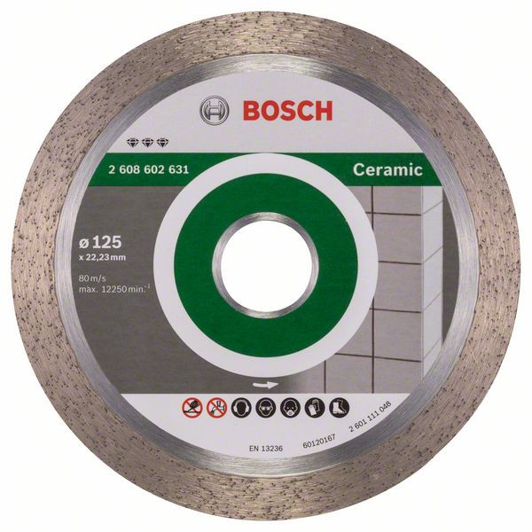 Bosch Accessoires Diamantdoorslijpschijf Best for Ceramic 125 x 22,23 x 1,8 x 10 mm 1st - 2608602631