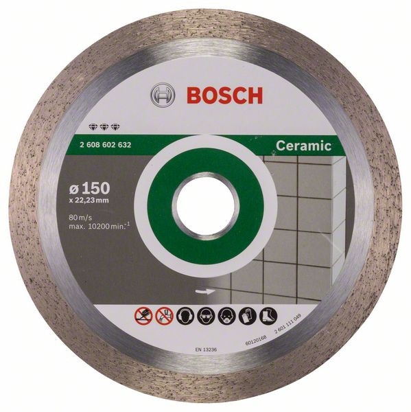 Bosch Accessoires Diamantdoorslijpschijf Best for Ceramic 150 x 22,23 x 1,9 x 10 mm 1st - 2608602632