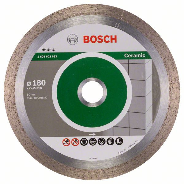 Bosch Accessoires Diamantdoorslijpschijf Best for Ceramic 180 x 22,23 x 2,2 x 10 mm 1st