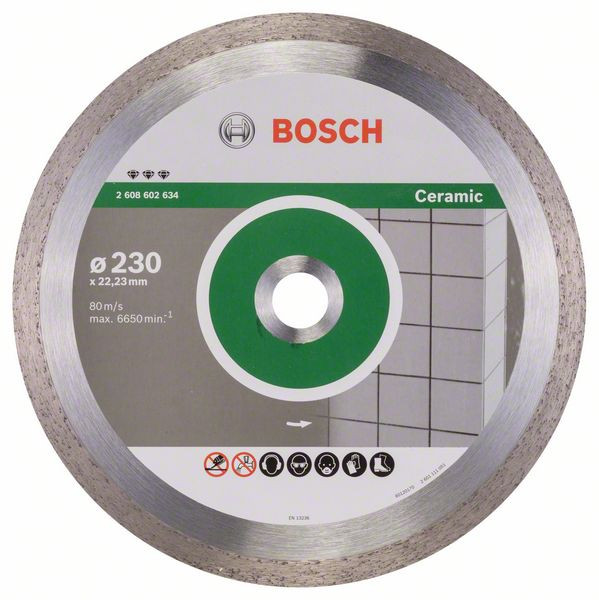 Bosch Accessoires Diamantdoorslijpschijf Best for Ceramic 230 x 22,23 x 2,4 x 10 mm 1st - 2608602634