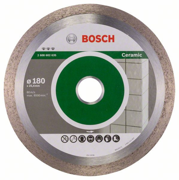 Bosch Accessoires Diamantdoorslijpschijf Best for Ceramic 180 x 25,40 x 2,2 x 10 mm 1st