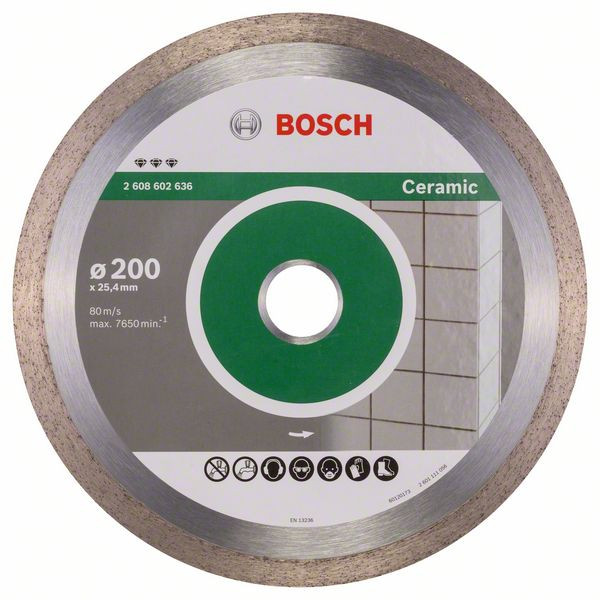 Bosch Accessoires Diamantdoorslijpschijf Best for Ceramic 200 x 25,40 x 2,2 x 10 mm 1st - 2608602636