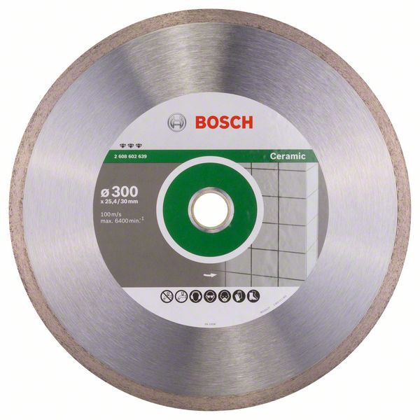 Bosch Accessoires Diamantdoorslijpschijf Best for Ceramic 300 x 30/25,40 x 2,8 x 10 mm 1st - 2608602639