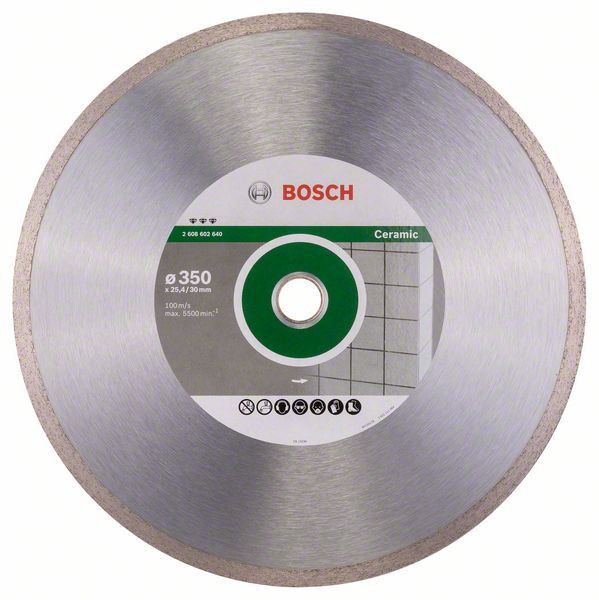 Bosch Accessoires Diamantdoorslijpschijf Best for Ceramic 350 x 30/25,40 x 3 x 10 mm 1st - 2608602640