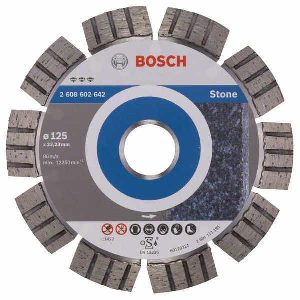 Bosch Accessoires Diamantdoorslijpschijf Best for Stone 125 x 22,23 x 2,2 x 12 mm 1st