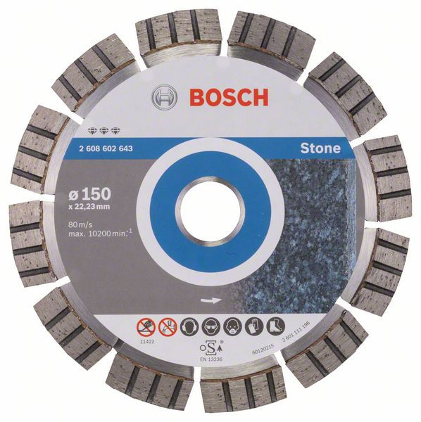 Bosch Accessoires Diamantdoorslijpschijf Best for Stone 150 x 22,23 x 2,4 x 12 mm 1st - 2608602643