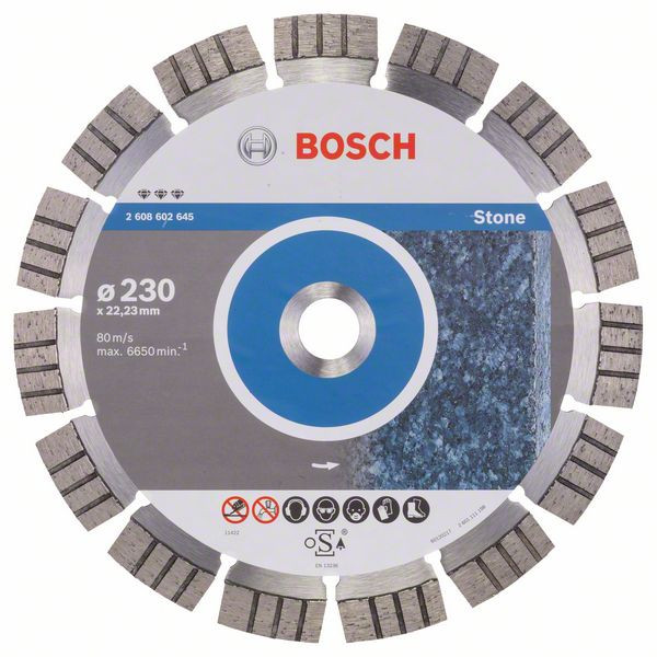 Bosch Accessoires Diamantdoorslijpschijf Best for Stone 230 x 22,23 x 2,4 x 15 mm 1st