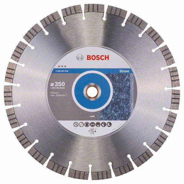 Bosch Accessoires Diamantdoorslijpschijf Best for Stone 350 x 20,00+25,40 x 3,2 x 15 mm 1st - 2608602648
