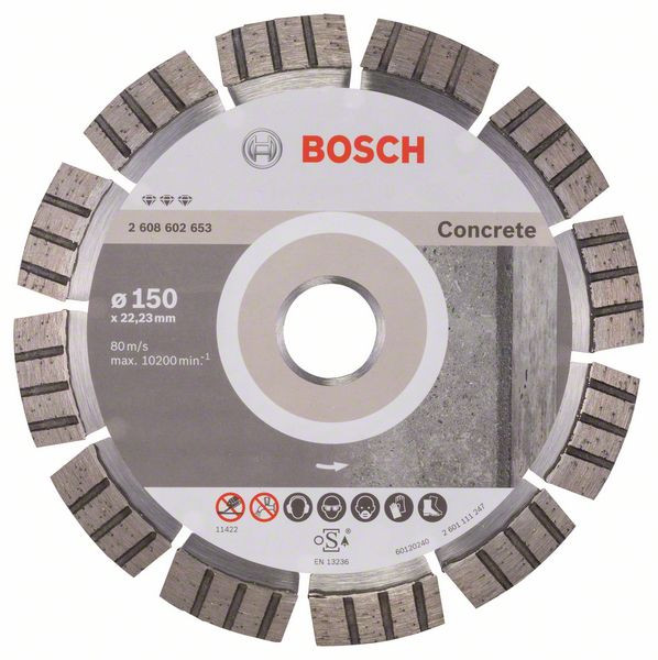 Bosch Accessoires Diamantdoorslijpschijf Best for Concrete 150 x 22,23 x 2,4 x 12 mm 1st