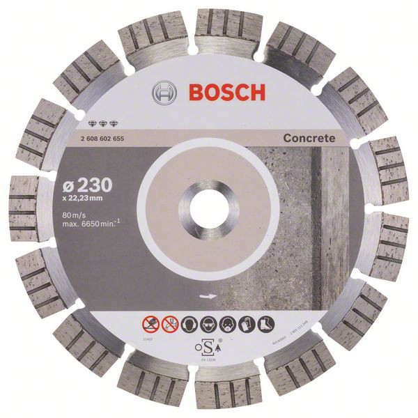 Bosch Accessoires Diamantdoorslijpschijf Best for Concrete 230 x 22,23 x 2,4 x 15 mm 1st - 2608602655
