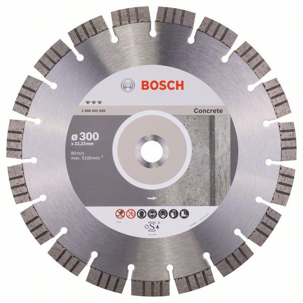 Bosch Accessoires Diamantdoorslijpschijf Best for Concrete 300 x 22,23 x 2,8 x 15 mm 1st - 2608602656
