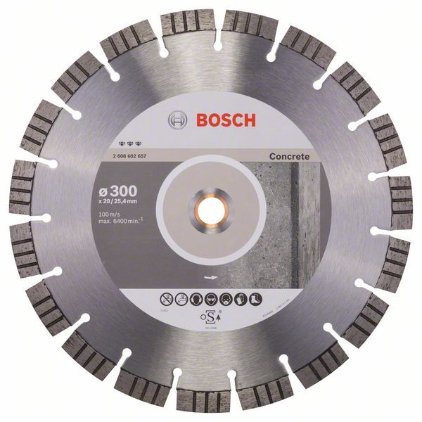 Bosch Accessoires Diamantdoorslijpschijf Best for Concrete 300 x 20,00+25,40 x 2,8 x 15 mm 1st