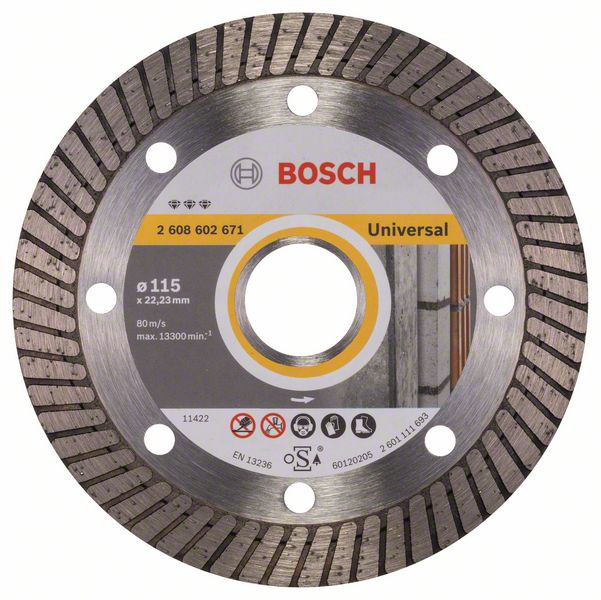 Bosch Accessoires Diamantdoorslijpschijf Best for Universal Turbo 115 x 22,23 x 2,2 x 12 mm 1st - 2608602671