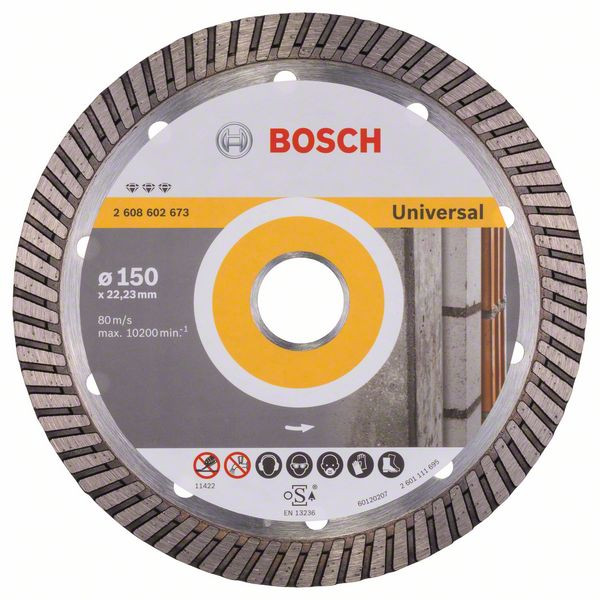 Bosch Accessoires Diamantdoorslijpschijf Best for Universal Turbo 150 x 22,23 x 2,4 x 12 mm 1st