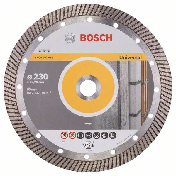 Bosch Accessoires Diamantdoorslijpschijf Best for Universal Turbo 230 x 22,23 x 2,5 x 15 mm 1st
