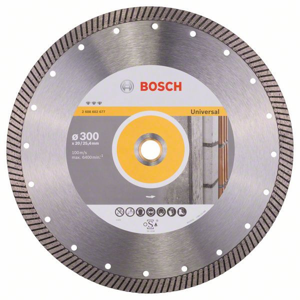Bosch Accessoires Diamantdoorslijpschijf Best for Universal Turbo 300 x 20,00+25,40 x 3 x 15 mm 1st