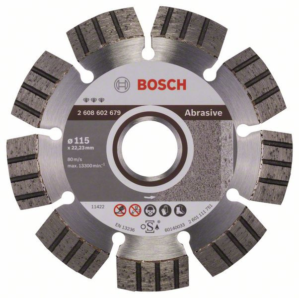 Bosch Accessoires Diamantdoorslijpschijf Best for Abrasive 115 x 22,23 x 2,2 x 12 mm 1st - 2608602679